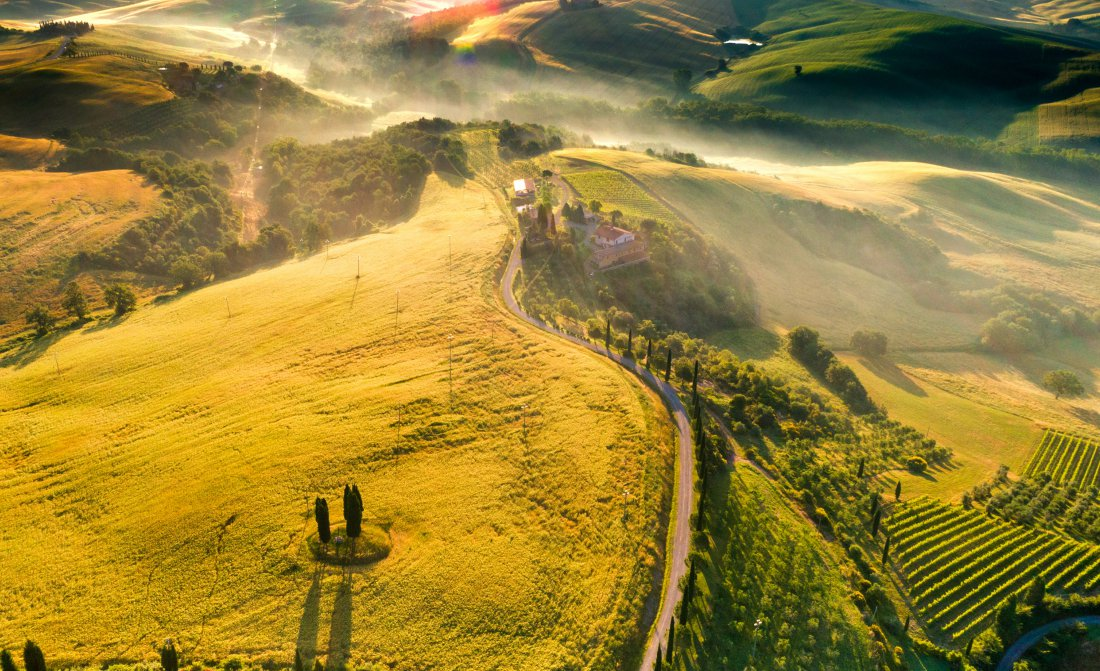 Tuscany From Hot Air Balloon