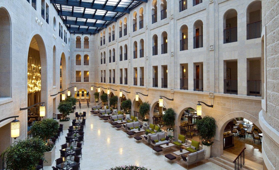 Waldorf Astoria Jerusalem Atrium Promenade With Retractable Glass Ceiling